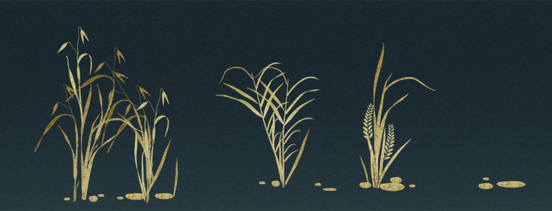Grass stencil art design