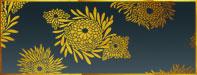 Katagamni flowers stencil design