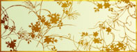 Katagami leaves stencil design