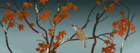 Maple tree wall stencil design