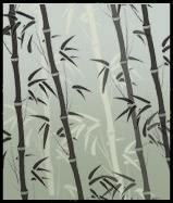 Bamboo stencil repeat motif