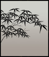 Bamboo leaves stencil motif 1