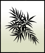 Bamboo leaves stencil motif 2