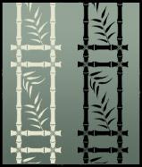 Bamboo border stencil motif 2