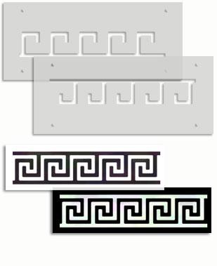 Greek key border stencil template