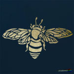 Bumble bee stencil ST2