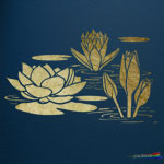 Water lily Stencil ST47