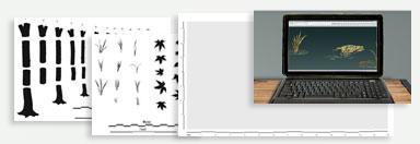 Tree mural design kit
