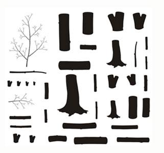 Large tree stenciltemplates