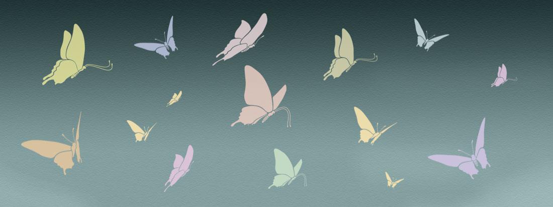 Butterfly Stencil mural