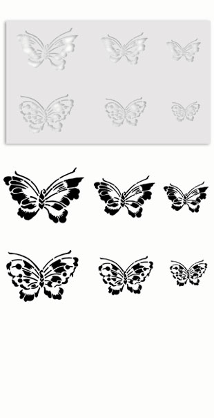 Asian Butterfly Stencil templates