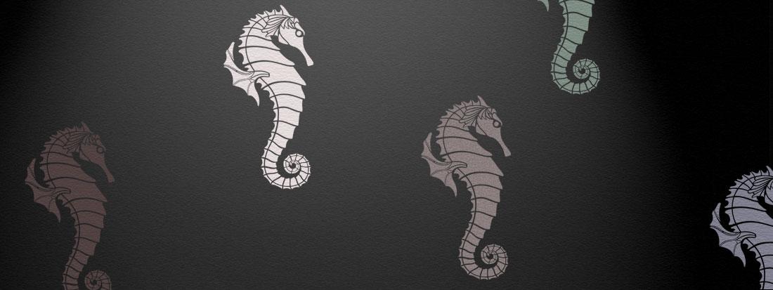 Seahorse stencil 2