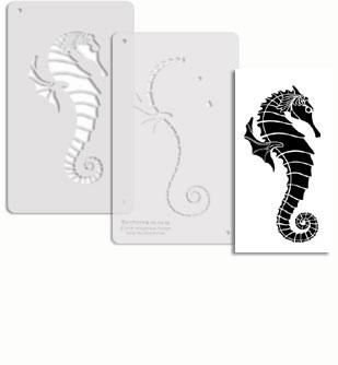 Seahorse stencil template