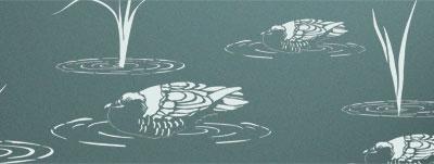 Duck pond stencils