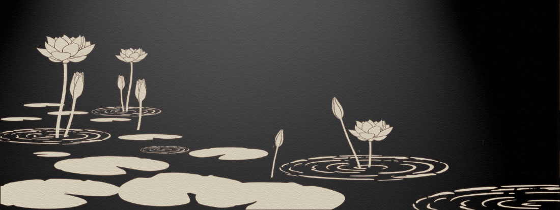 Water Lily stencils theme pack