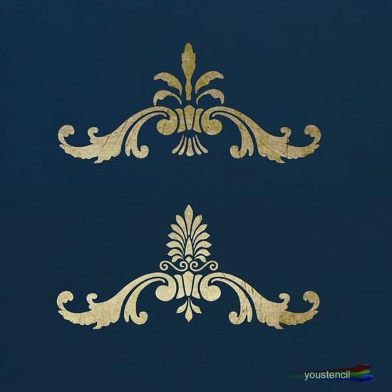 Victorian Ornament Stencil ST13
