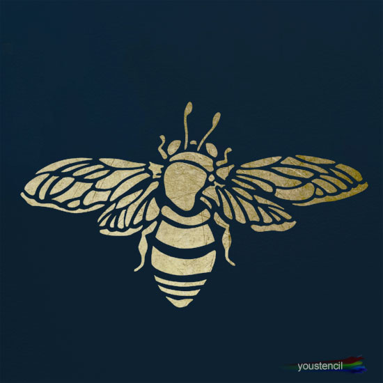 Bumble Bee Stencil: ST2