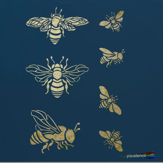 Bumble Bees  Stencil: ST48