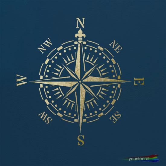 Vintage Compass Stencil ST62