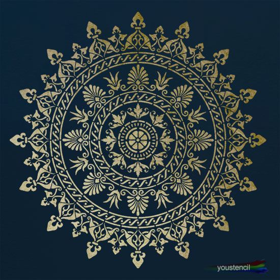 Large Mandala stencil